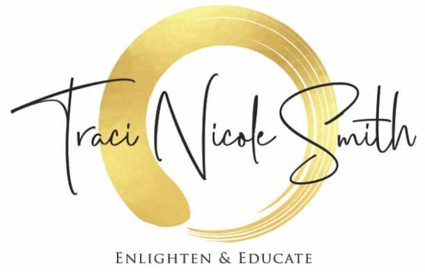 "My logo that has my name and the phrase ""Enlighten and Educate"""